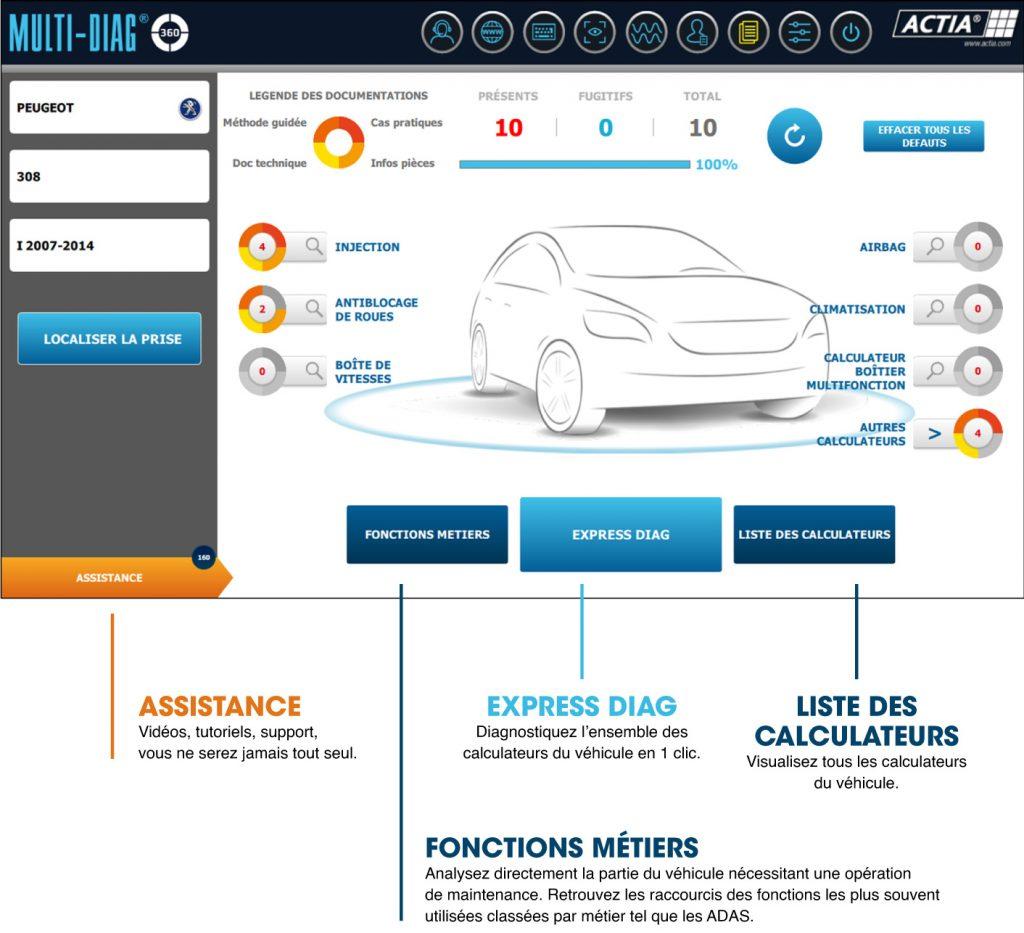 multi-diag, logiciel diagnostic , vehicule léger, multi-diag 360